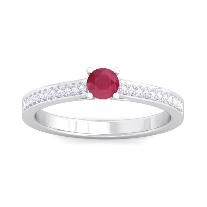 Red-Ruby-FG-SI-Round-Gem-Diamonds-Engagement-Glossy-Ring-14K-White-Gold