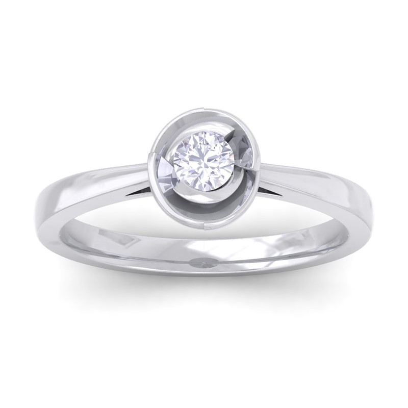 0-20ct-FG-SI-Solitaire-Diamond-Classic-Engagement-Ring-Women-10K-White-Gold