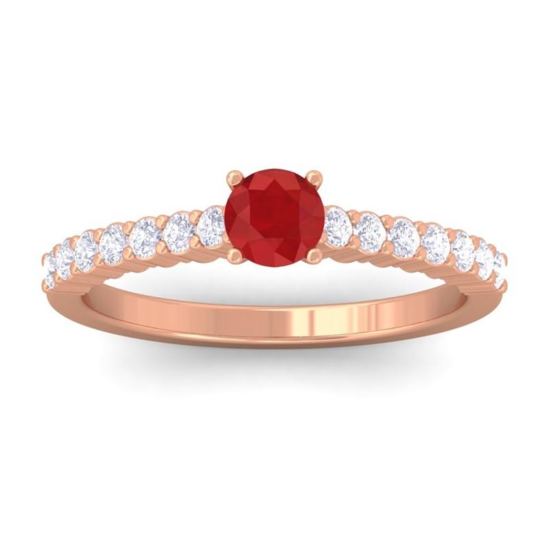 Red-Ruby-IJ-SI-Diamonds-Half-Eternity-Engagement-Ring-14K-Rose-Gold