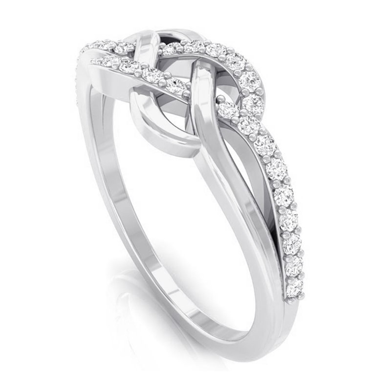 0-15ct-FG-SI-Diamond-Women-Fashion-Eternity-Engagement-Ring-10K-Solid-Gold
