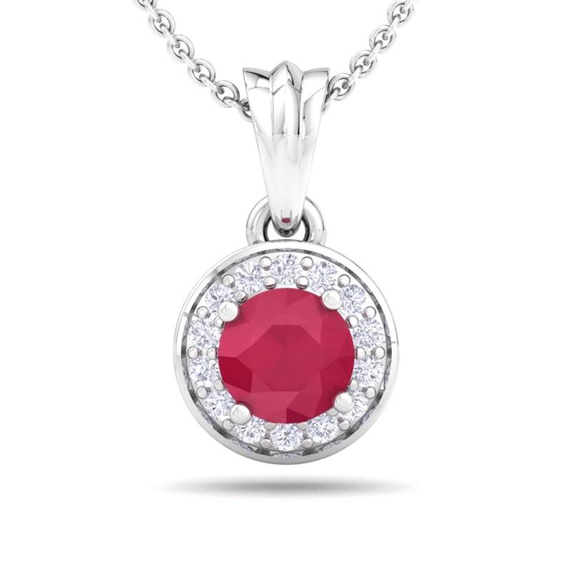 Red-Ruby-FG-SI-Round-Gemstone-Diamond-Halo-Pendant-Women-10K-White-Gold