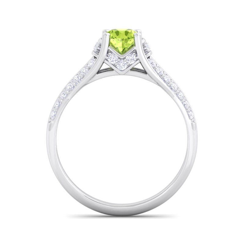Green-Peridot-IJ-SI-Brilliant-Gemstone-Natural-Diamonds-Ring-18K-Solid-Gold