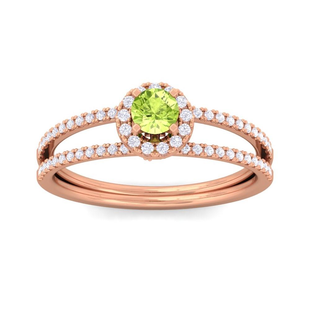 Green-Peridot-Gemstone-Diamonds-Fashion-Halo-Ring-Women-Solid-Gold-Certified