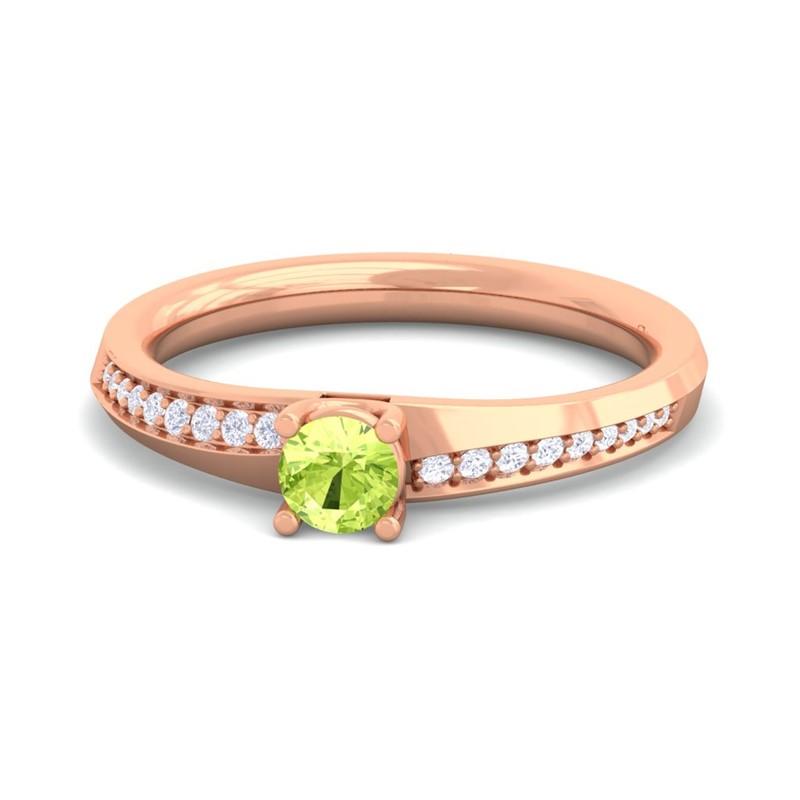 Green-Peridot-FG-SI-Diamonds-Dailywear-Gemstone-Fashion-Ring-18K-Gold
