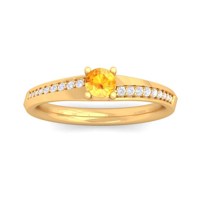 Orange-Citrine-IJ-SI-Diamonds-Dailywear-Gemstone-Fashion-Ring-10K-Yellow-Gold
