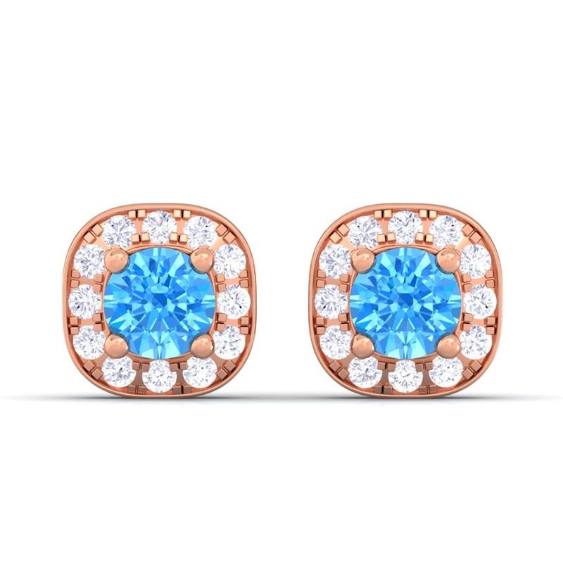 Blue-Topaz-IJ-SI-Diamond-Gemstone-Halo-Stud-Earrings-Women-10K-Rose-Gold