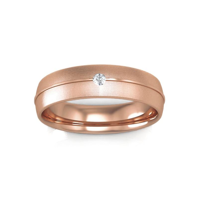 0-07ct-Fine-Single-Diamond-Mens-Wedding-Anniversary-Band-Ring-10K-Rose-Gold