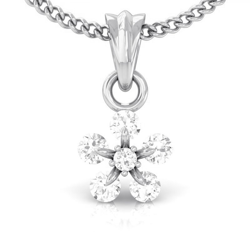 0-27ct-FG-SI-Natural-Brilliant-Diamonds-Sparkling-Women-Pendant-14K-White-Gold