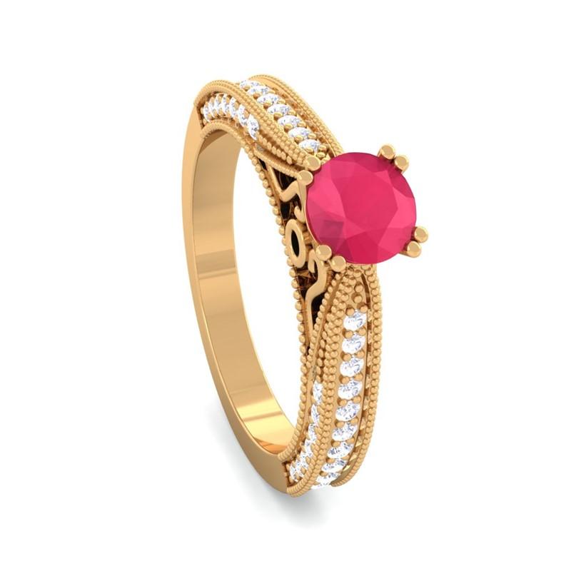 Red-Ruby-FG-SI-Gemstone-Filigree-Design-Diamonds-Ring-18K-Gold