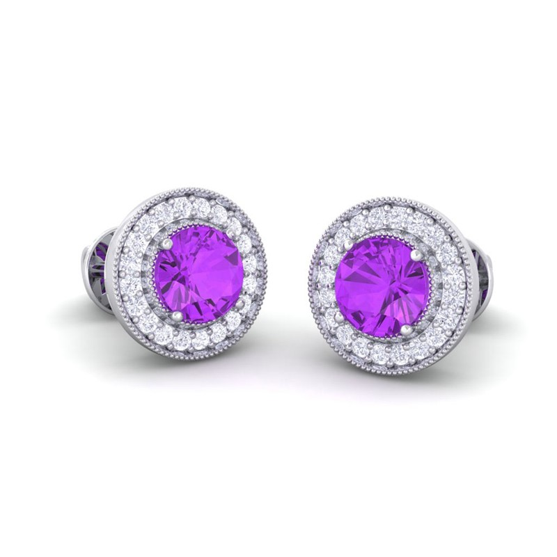 100% Real Purple Amethyst Round Diamond Gemstone Stud. White Gold Diamond Band. 14k Gold Bands. Womens Gold Anklets. Metal Chains. Ankle Bracelets For Guys. 1ct Engagement Rings. Price List Diamond. Infinity Engagement Band