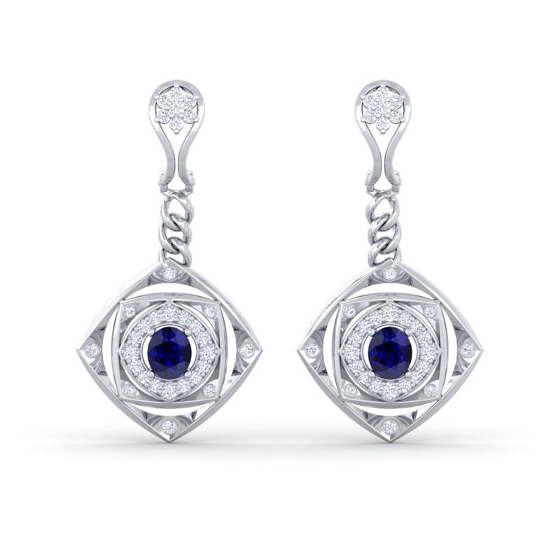 Blue-Sapphire-EF-VVS-Fine-Diamonds-Chandelier-Earring-Women-10K-White-Gold