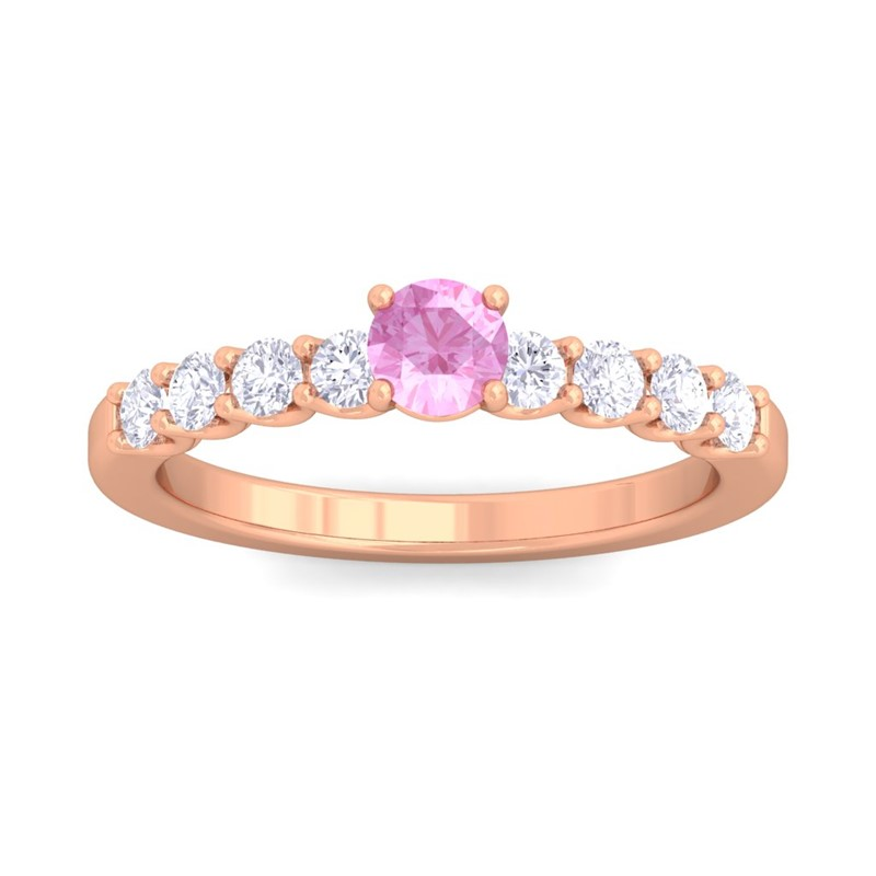 Pink-Sapphire-FG-SI-Shine-Gem-With-Side-Stone-Engagement-Ring-14K-Rose-Gold
