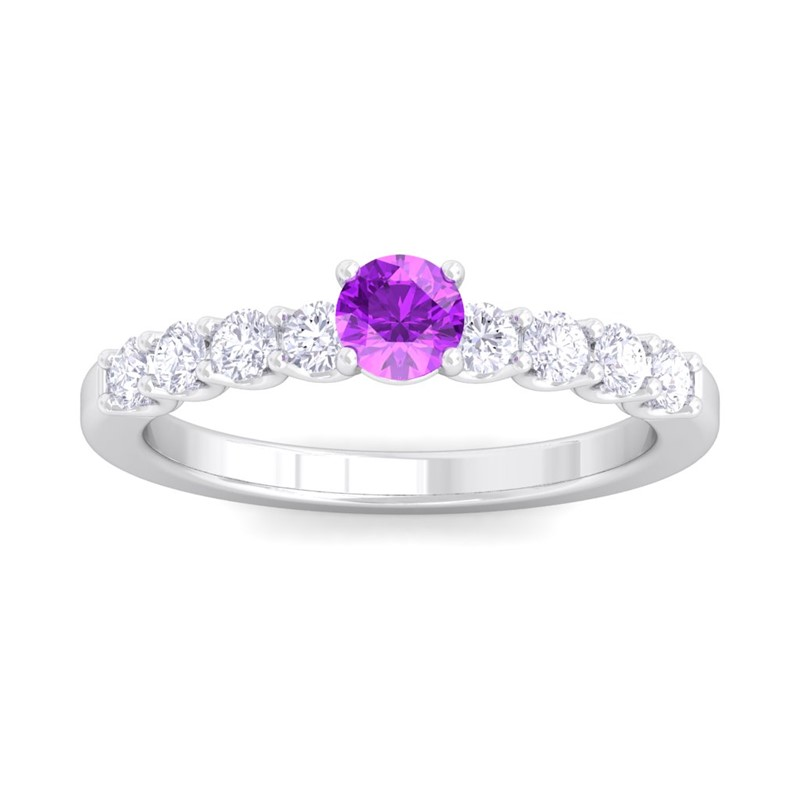 Purple-Amethyst-FG-SI-Shine-Gem-With-Side-Stone-Engagement-Ring-14K-White-Gold