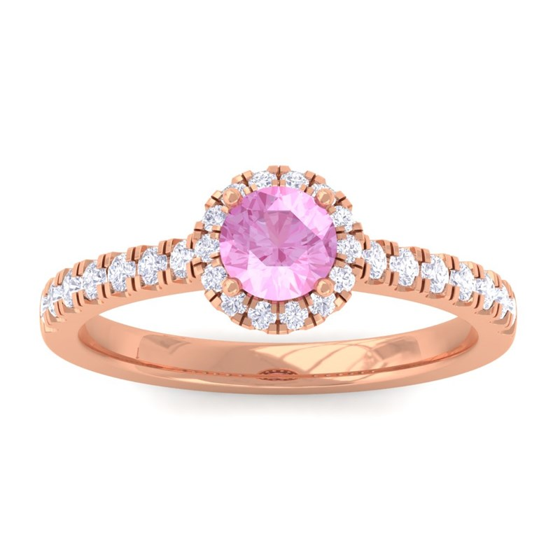 Pink-Sapphire-FG-SI-Diamond-Gemstone-Enagagement-Ring-Women-18K-Rose-Gold