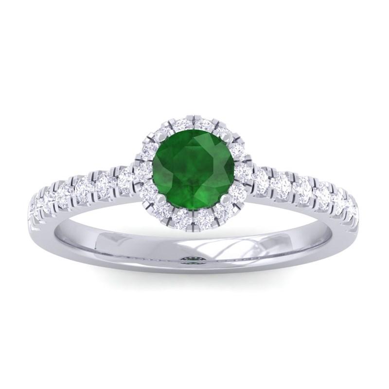 Green-Emerald-FG-SI-Diamond-Gemstone-Enagagement-Ring-Women-14K-Gold