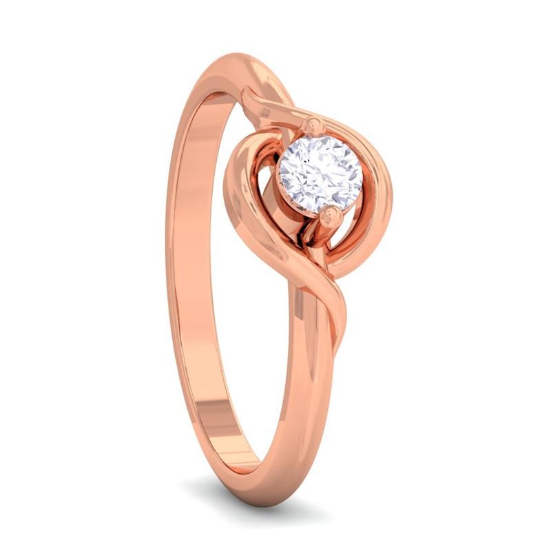 0-24ct-FG-SI-Beautiful-Round-Solitaire-Diamond-Anniversary-Ring-18K-Gold