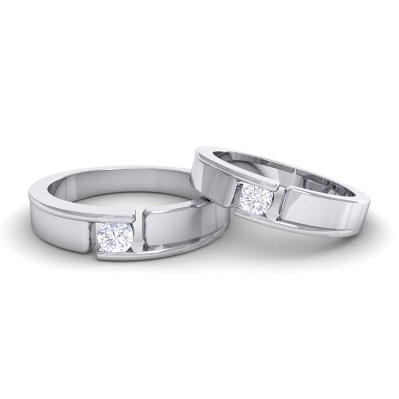0-30ct-FG-SI-Round-Diamonds-Couple-Wedding-Anniversary-Bands-10K-White-Gold