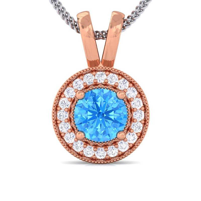 Blue-Topaz-FG-SI-Diamond-Round-Halo-Gemstone-Pendant-Women-14K-Rose-Gold