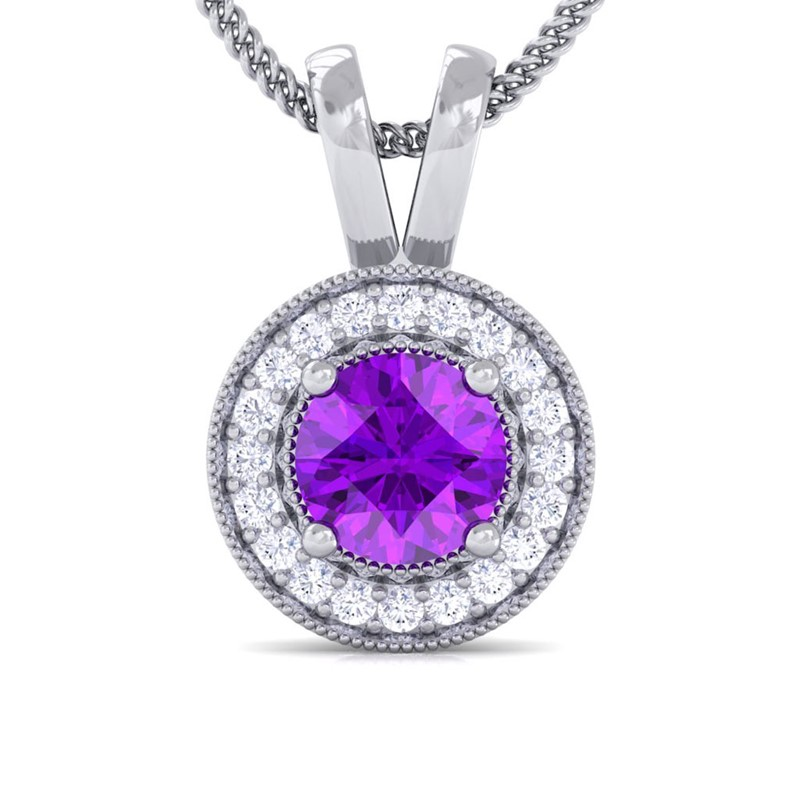 Purple-Amethyst-Real-Diamonds-Round-Halo-Gemstone-Pendant-Women-18K-White-Gold