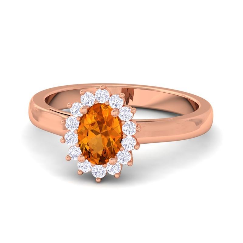 Orange Gemstone Ring Uk