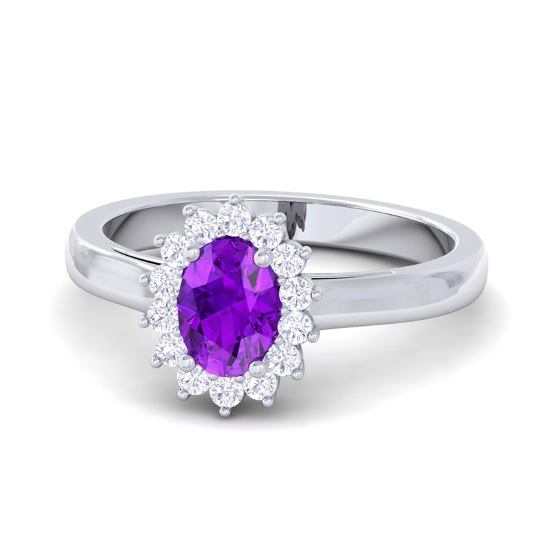 purple amethyst ij si halo engagement