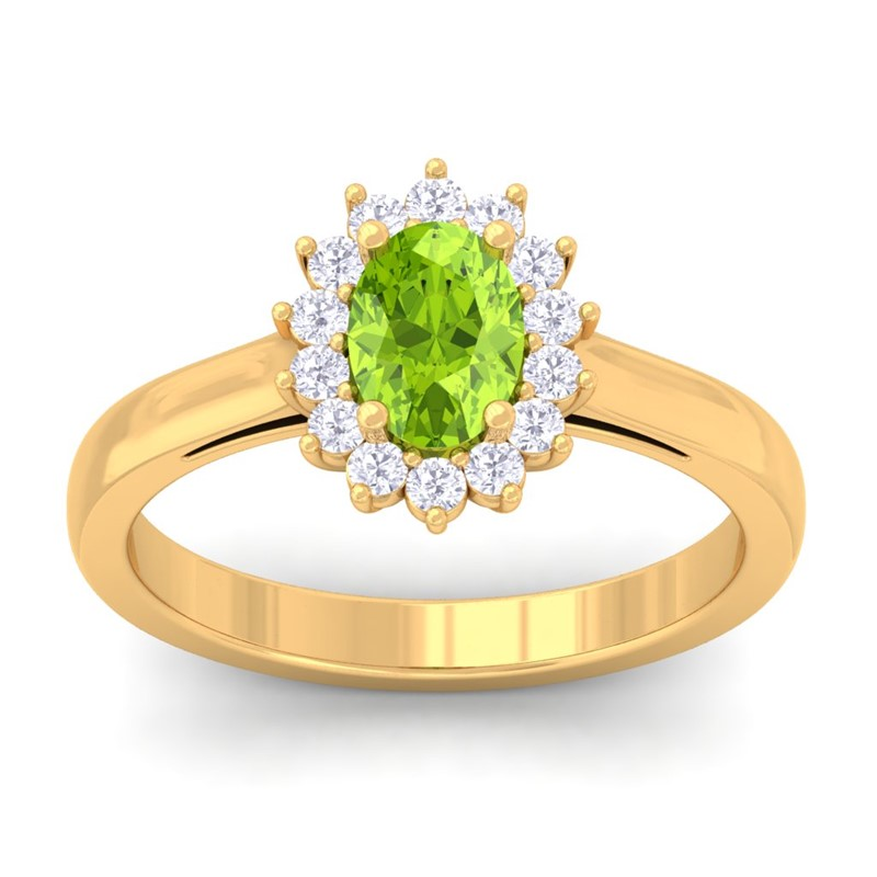 Green-Peridot-FG-SI-Diamond-Celebrity-Halo-Engagement-Ring-14K-Gold