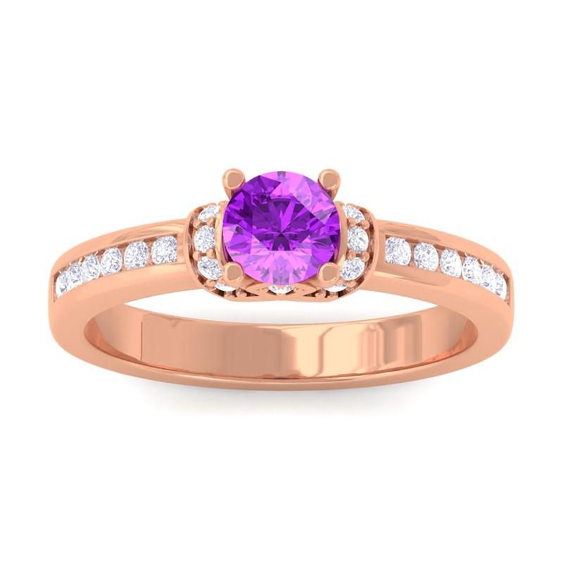 Purple-Amethyst-FG-SI-Channel-Diamonds-Engagement-Ring-Women-10K-Rose-Gold
