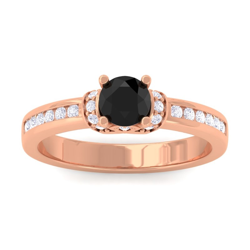 Black-Onyx-FG-SI-Channel-Diamonds-Engagement-Ring-Women-10K-Rose-Gold