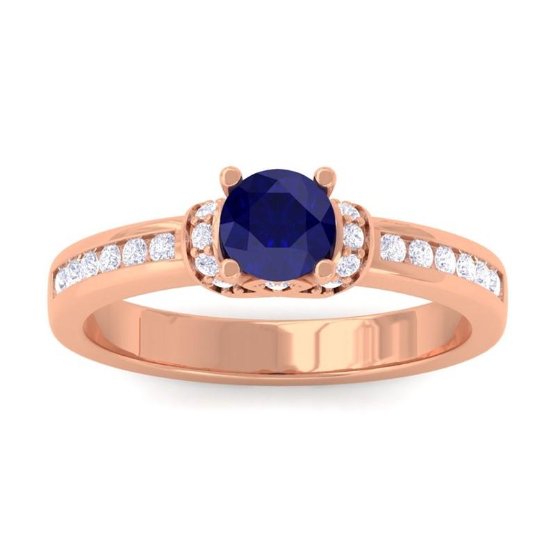 Blue-Sapphire-FG-SI-Channel-Diamonds-Engagement-Ring-Women-10K-Rose-Gold