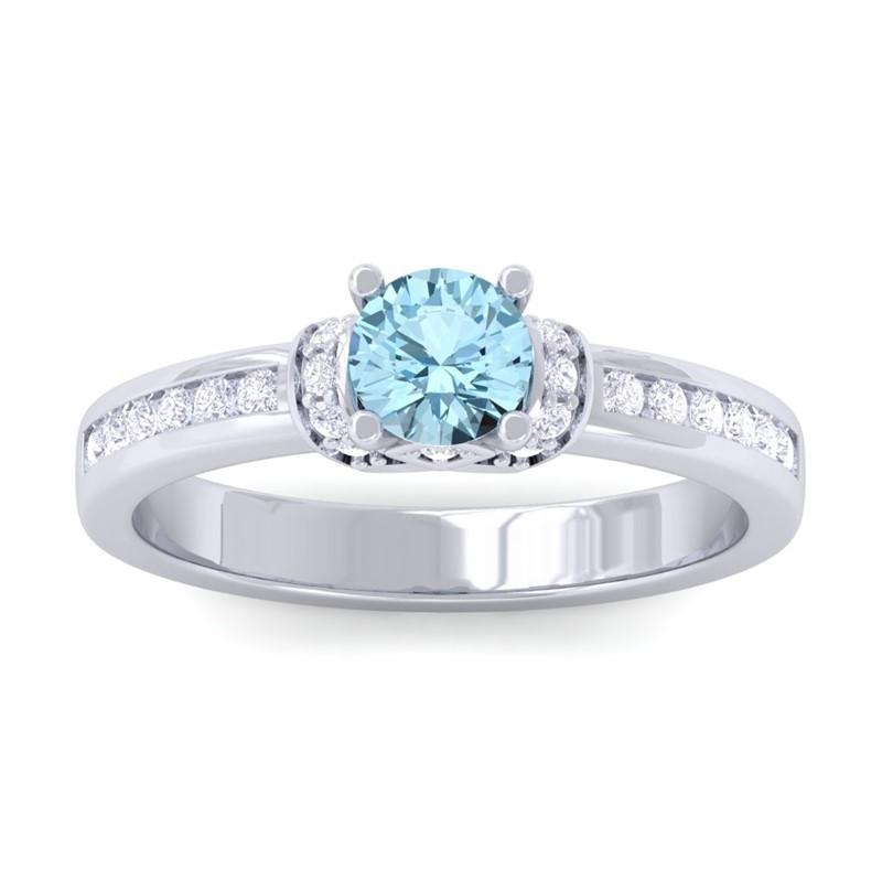 Blue-Topaz-FG-SI-Channel-Diamonds-Engagement-Ring-Women-18K-White-Gold