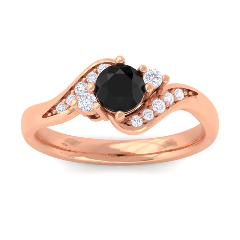 Black-Onyx-FG-SI-Natural-Gemstone-Diamond-Engagement-Ring-18K-Rose-Gold