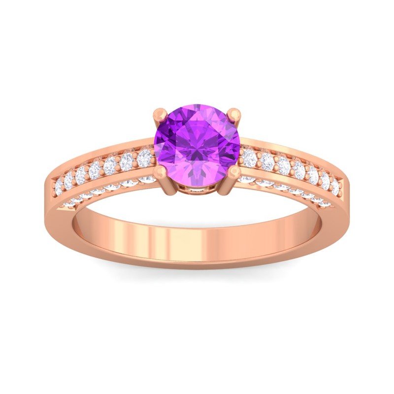 Purple-Amethyst-FG-SI-Solitaire-Gems-Diamonds-Engagement-Ring-18K-Rose-Gold