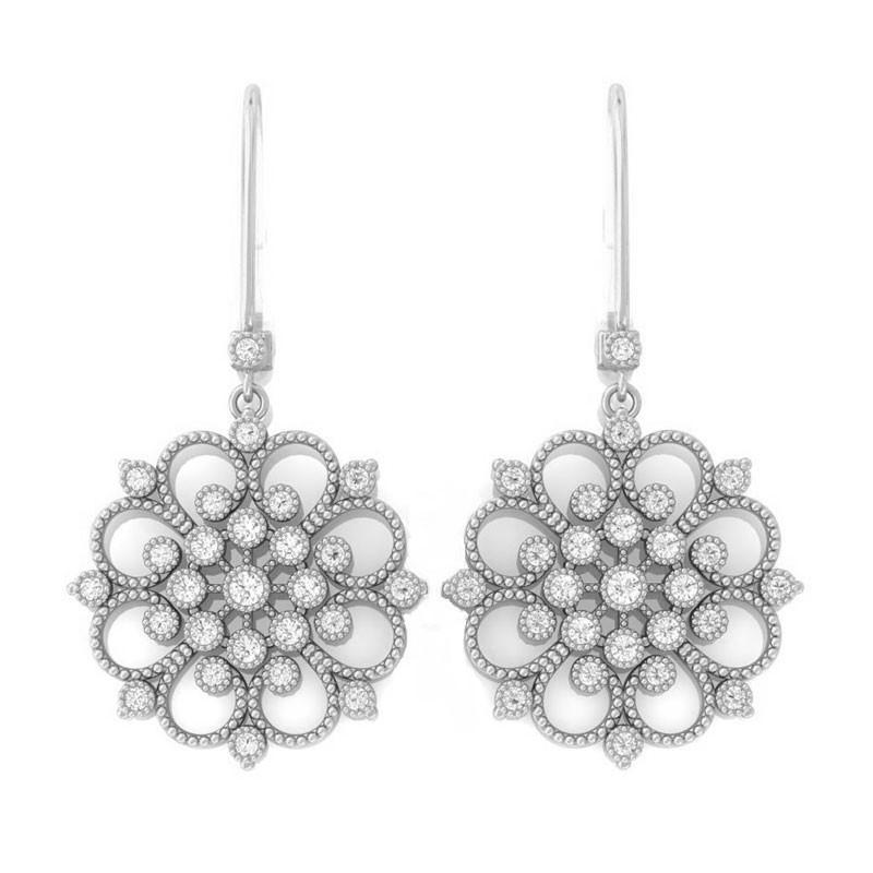 Fine diamond chandeliers in 10k gold mandala fine diamond chandeliers in 10k gold mozeypictures Images