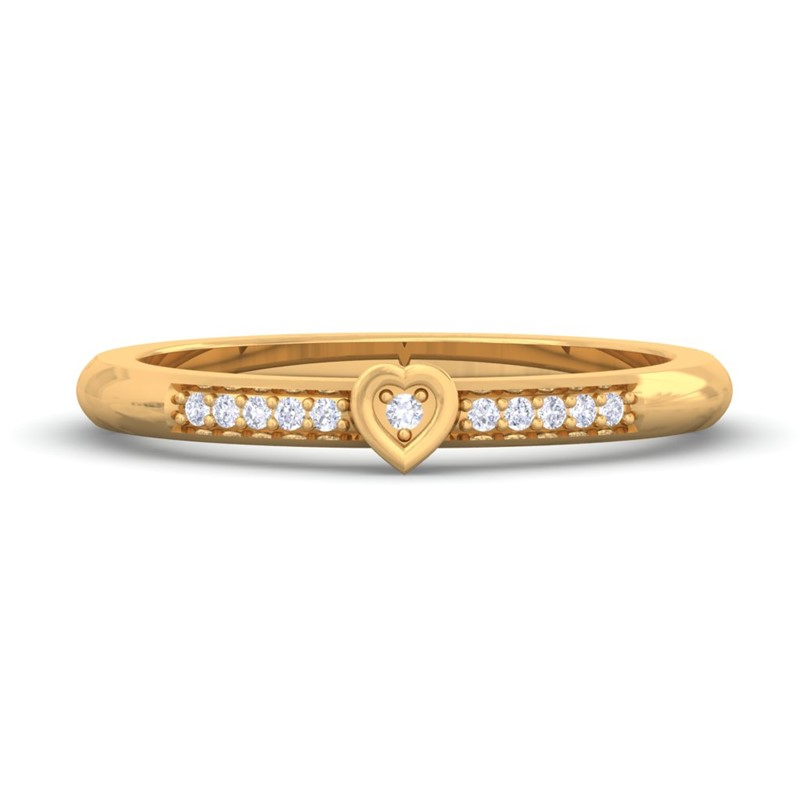 0-05ct-FG-SI-Fine-Diamonds-Fashion-Daily-Wear-Heart-Ring-Women-18K-Gold