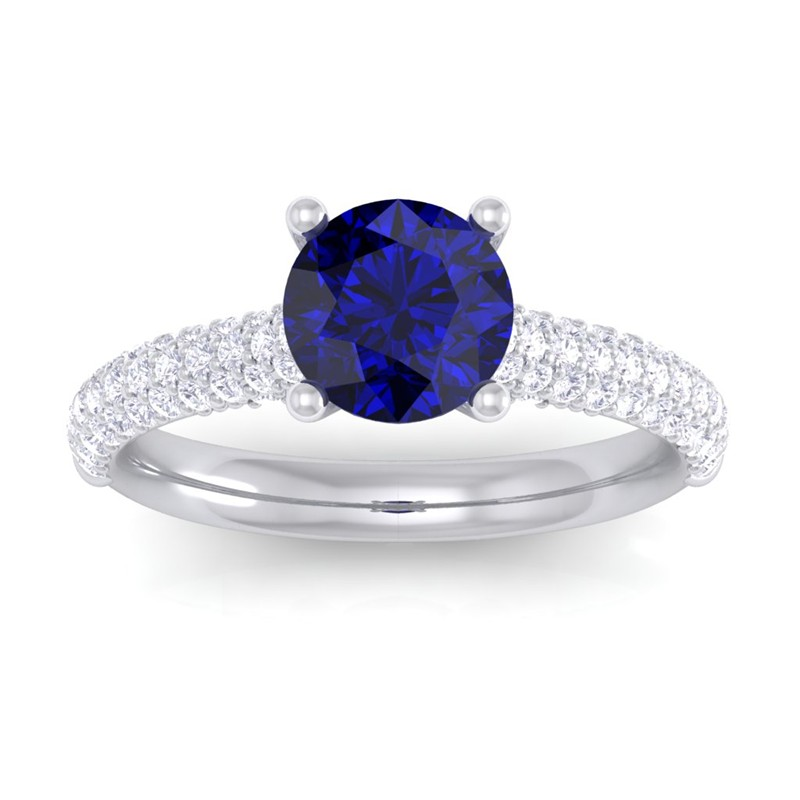 Blue-Sapphire-IJ-SI-Diamonds-Solitaire-Gemstone-Ring-Women-18K-White-Gold