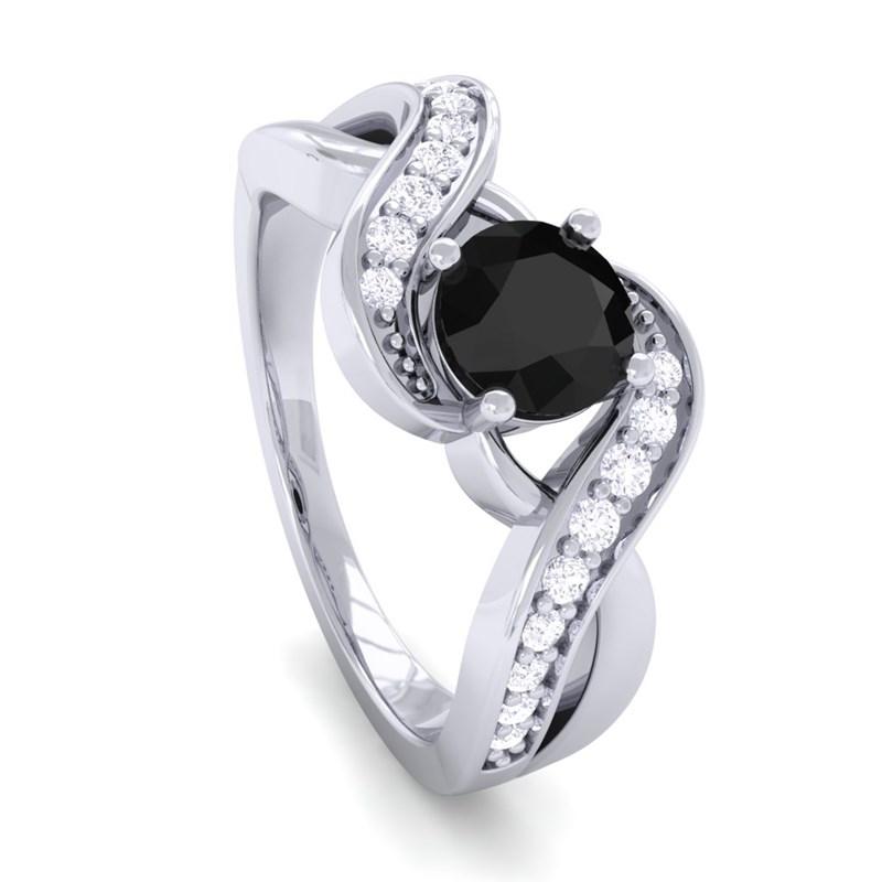Black Diamond Wedding Rings For Women: Black Diamond IJ SI Diamonds Gem Engagement Ring Women 14K
