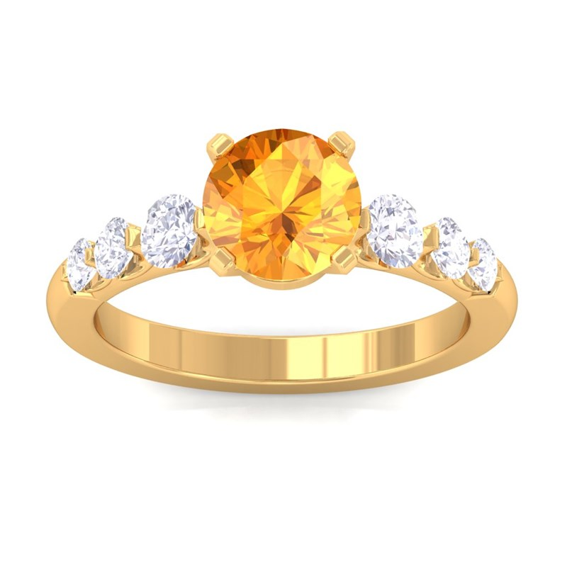 Orange-Citrine-FG-SI-Natural-Gemstone-Diamonds-Engagement-Ring-10K-Yellow-Gold