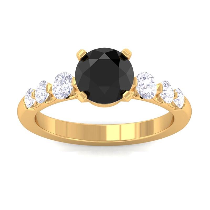 Black-Onyx-IJ-SI-Natural-Gemstone-Diamonds-Engagement-Ring-Yellow-Gold