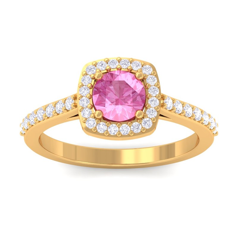 Pink-Sapphire-IJ-SI-Fine-Diamonds-Gemstone-Engagement-Ring-10K-Yellow-Gold