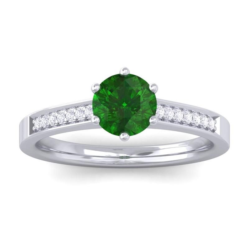 emerald diamond rings for women