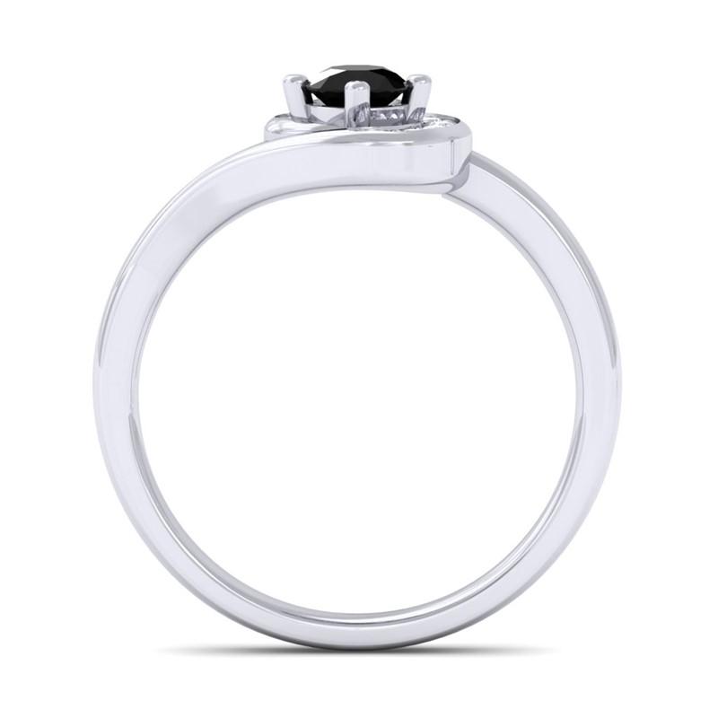 Black-Onyx-FG-SI-Round-Diamond-Gemstone-Fashion-Ring-Women-18K-Gold