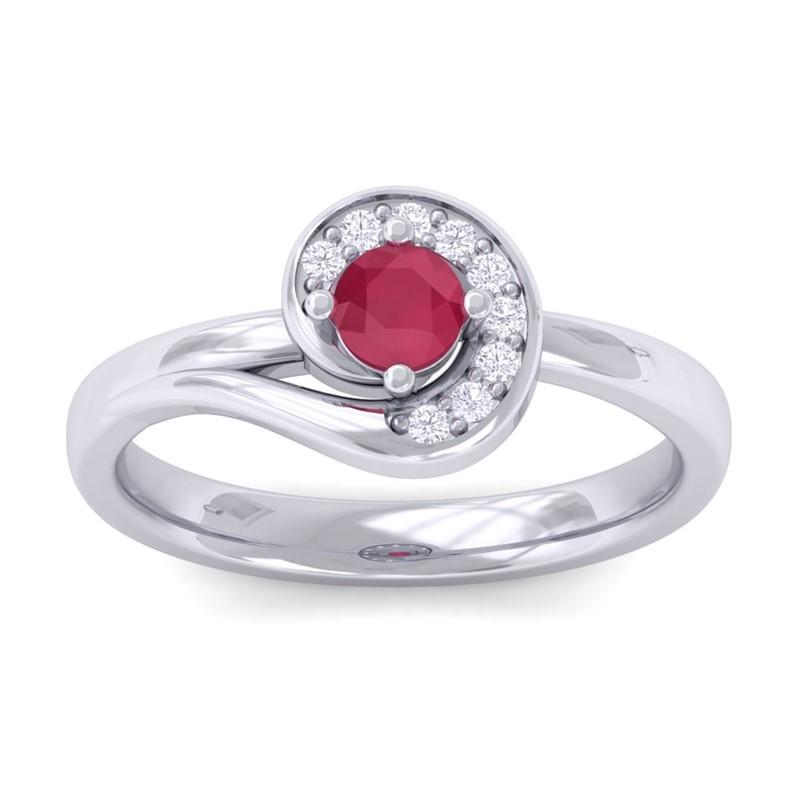 Red-Ruby-Round-Diamonds-Gemstone-Fashion-Ring-Women-Gift-10K-White-Gold