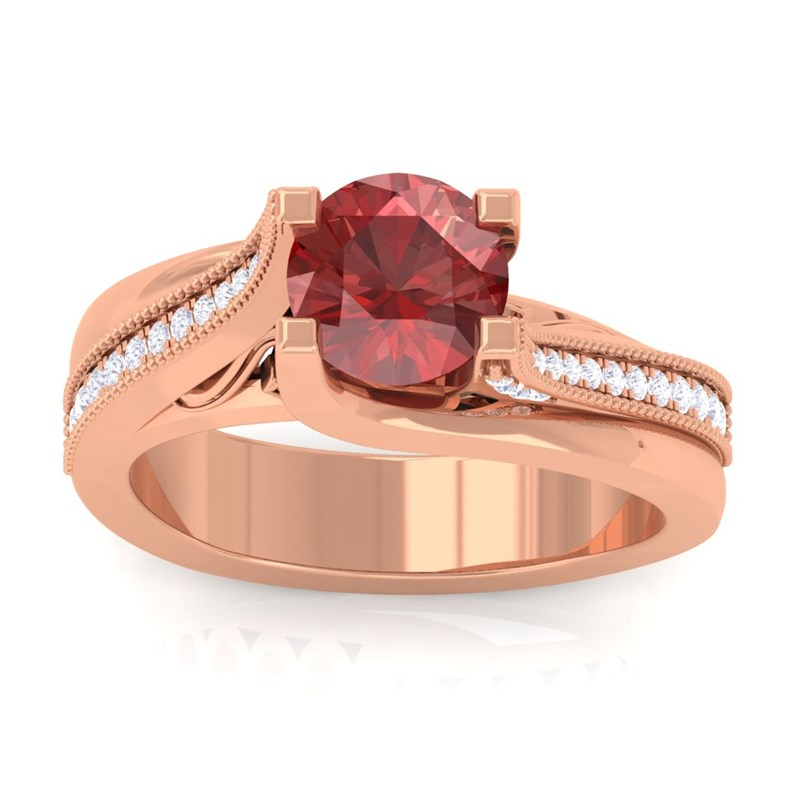 Red-Garnet-FG-SI-Gemstone-Diamonds-Engagement-Ring-Women-18K-Rose-Gold