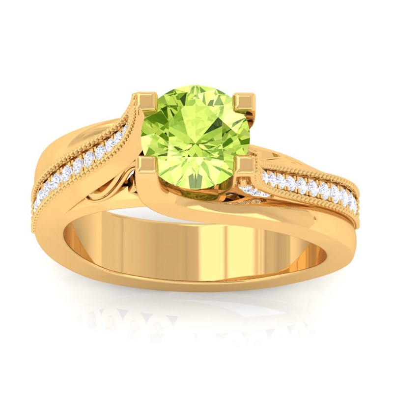 Green-Peridot-IJ-SI-Gemstone-Diamonds-Engagement-Ring-Women-18K-Yellow-Gold