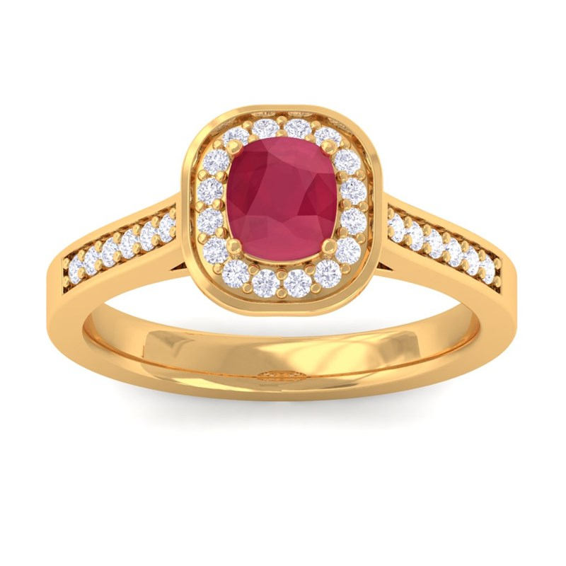 Red-Ruby-IJ-SI-Diamonds-Cushion-Gemstone-Engagement-Ring-10K-Yellow-Gold
