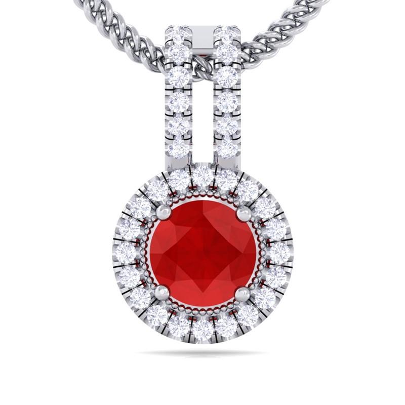 Red-Ruby-FG-SI-Fine-Diamond-Round-Gemstone-Pendant-Women-14K-Gold