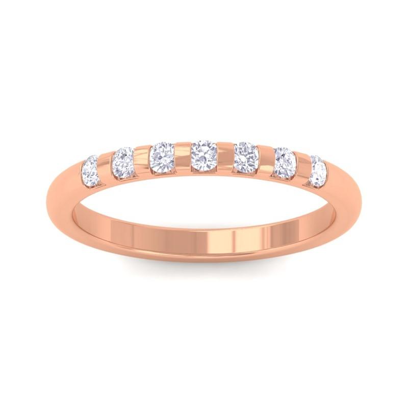 0-21ct-FG-SI-Real-Diamonds-Classic-Perfect-Wedding-Band-Women-18K-Gold