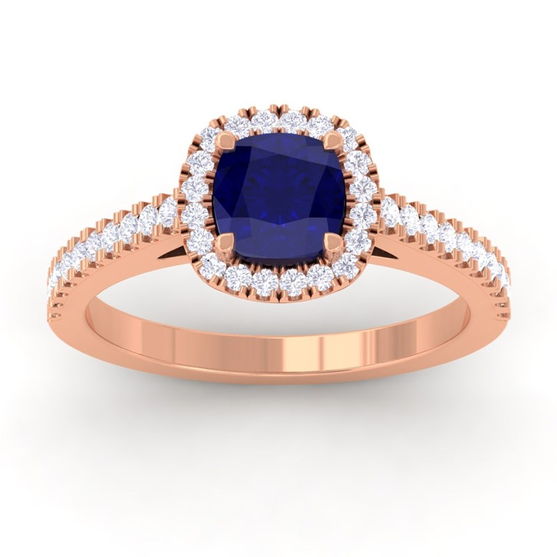 Blue-Sapphire-FG-SI-Diamonds-Halo-Gemstone-Engagement-Ring-14K-Rose-Gold