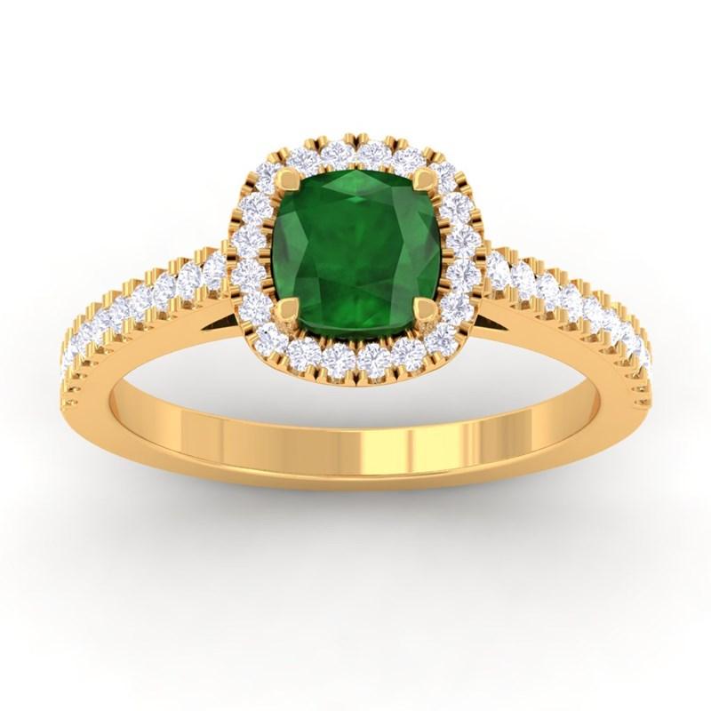 Green-Emerald-IJ-SI-Diamonds-Halo-Gemstone-Engagement-Ring-18K-Yellow-Gold