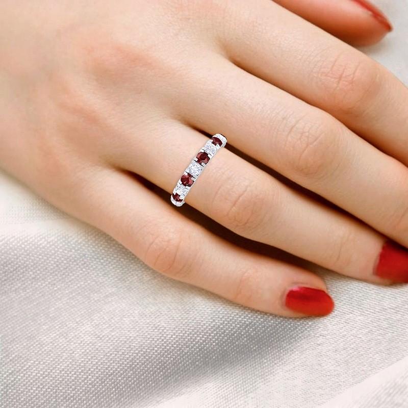 Red-Garnet-FG-SI-Sparkling-Multi-Stones-Full-Eternity-Ring-18K-Gold
